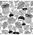 Seamless background with cute forest animals vector image