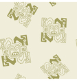 Seamless pattern with Peruvian Indians art vector image vector image