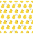 Seamless pattern with yellow baby ducks vector image