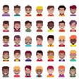 set 35 avatar icons 02 vector image vector image