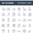 set line icons fathers day vector image
