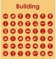 Set of building simple icons vector image vector image