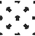 shirt polo pattern seamless black vector image vector image