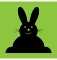 sitting smiling black Easter bunny vector image vector image