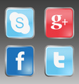 Social internet buttons vector image