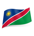 State flag of Namibia vector image vector image