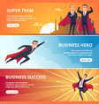 superheroes business banners male characters vector image vector image