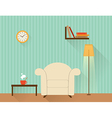 The living room with white armchair vector image vector image