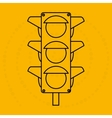 traffic light design vector image vector image
