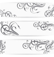 Website header or banner set with beautiful floral vector image vector image