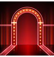Neon stage background vector image