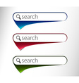 3d glossy search icon vector image vector image