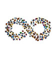 a group of people in a shape of infinity symbol on vector image vector image