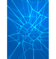 Abstract glowing blue background vector image vector image