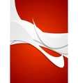 Abstract grey wavy pattern on red background vector image vector image