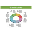 abstract pie chart with 8 parts business vector image vector image