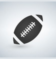 american football icon black isolated on white vector image