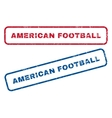 American Football Rubber Stamps vector image vector image