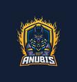 anubis esport gaming mascot logo template vector image