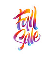 autumn season hand lettering fall sale modern vector image vector image