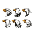 Bald Eagle icons set emblems vector image