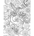Bird of paradise in fantasy garden vector image vector image