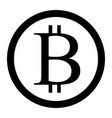 bitcoin sign isolated circle vector image