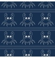 Blue crabs pattern vector image vector image
