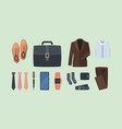 business style clothes gadgets for business vector image