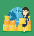 business worker of international delivery service vector image vector image