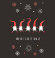 christmas card seasons greetings vector image vector image