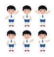 collection of little boys in school uniform vector image vector image