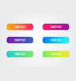 colorful title banner set paper cut out strips vector image