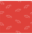 crab seamless pattern color vector image