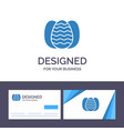 creative business card and logo template egg vector image
