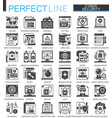 cyber security classic black mini concept symbols vector image vector image