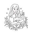 doodle kawaii style cute woman vector image