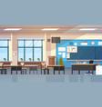 empty school class room interior modern classroom vector image vector image