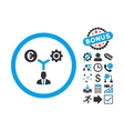 Euro Financial Development Flat Icon with vector image vector image