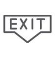 exit line icon emergency and doorway evacuation vector image vector image