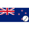 flag and map new zealand vector image vector image
