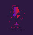 for bar menu alcoholic cocktail vector image vector image