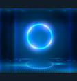 futuristic sci fi elegant modern neon glowing vector image vector image