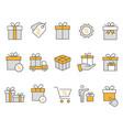 gift box icons set black vector image vector image