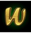 golden letter vector image vector image