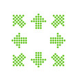 green points in the shape of arrows in 8eight vector image vector image