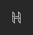 h logo monogram letter mockup design element vector image vector image