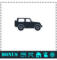 jeep travel icon flat vector image vector image
