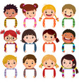 little kids portraits holding blank signs vector image