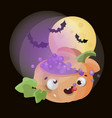 magic pumpkin halloween funny cartoon vector image vector image